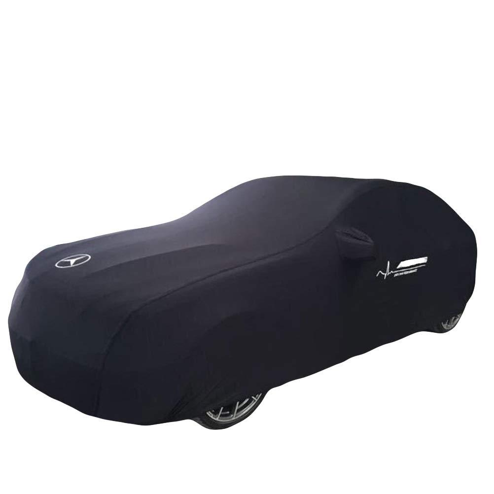 BAOYUANWANG Chezhao (for Mercedes-Benz Series) Custom Version Black car Cover Velvet Stretch Clothing (Basement, auto Show, car Dealer) Dedicated (Color : Black, Size : Vision Van)