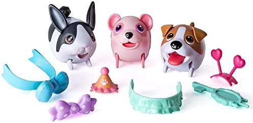 Chubby Puppies and Friends Fashion Team Set (Dutch Rabbit, Jack Russell Terrier, and Cotton Candy Panda)