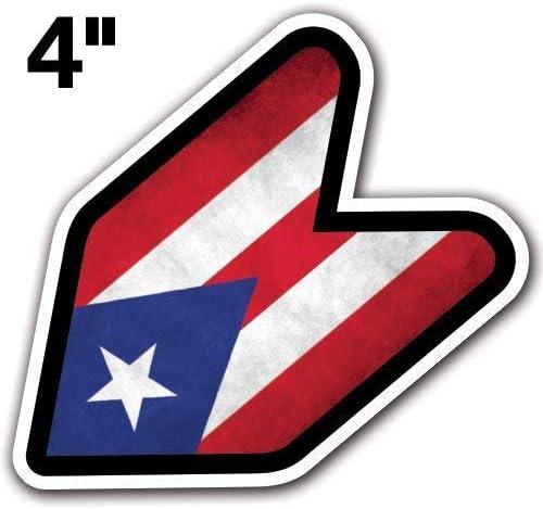 Columbia Flag Wakaba Leaf Design Car Vinyl Decals//Stickers