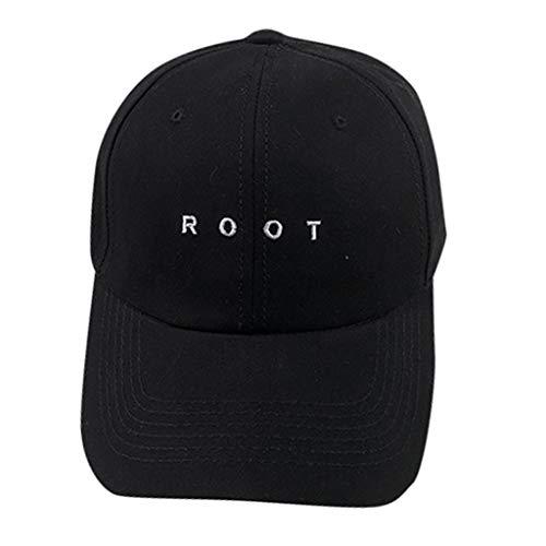 Smallrabbit Baseball Cap Root Embroidered Dad Hat Women Men Adjustable Cotton Letters Baseball Hat