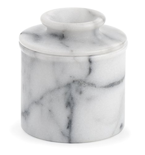 RSVP White Marble Butter Pot