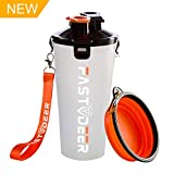 FASTDEER Dog Water Bottle and Portable Dog Bowl Free BPA Food Grade Silicone Material