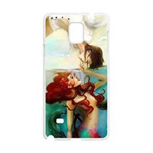 Samsung galaxy note 4 N9100 Little mermaid Phone Back Case DIY Art Print Design Hard Shell Protection YT040636