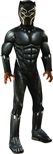 Rubie's Deluxe Black Panther Child's Costume, Grey, Large