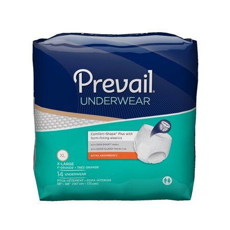 Prevail Extra Absorbency Incontinence Underwear, Extra Large, 56 Total Count
