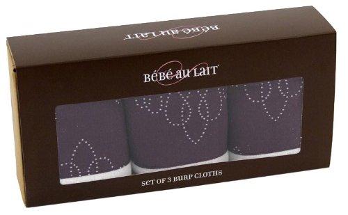 Bebe Au Lait 3 Pack Burp Cloth Set