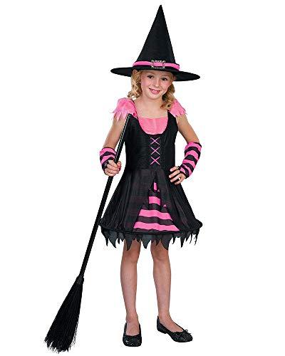 Seasons Direct Halloween Girls Sassy Witch Costume (US 8-10) Pink -