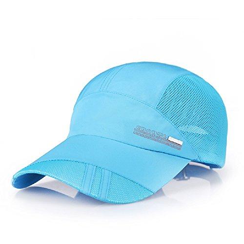 Top Dark Horse Baseball Cap Cool Sporting Sun Hats for Men and Women Lightweight Quick Dry Adjustable Hats Outdoor Hats Run Hats,Deep Sky - Hat Sky Blue Lightweight