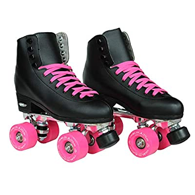 Epic Skates Epic Classic Black and Pink High-Top Quad Roller Skates : Sports & Outdoors