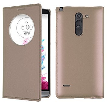 Helix Flip Cover for LG K8 X240 / X240H / US215 - Gold