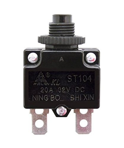 Razor 20A Reset Switch for Razor E100, E200, E300, eSpark, Pocket Rocket, Ground Force, Ground Force Drifter, & Mini Chopper (Razor Factory Original 20 Amp Circuit Breaker Switch)