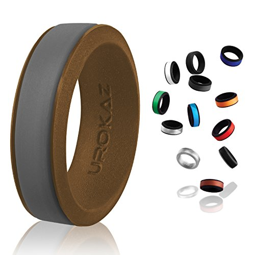 UROKAZ - Silicone Wedding Ring, The Only Ring That Fits Your Lifestyle - Whether You are Single or Married, Ring is Right for You - It is Fashionable, Flexible, and Comfortable (Skyrim Ring Wedding)