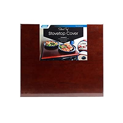 Camco 43526-A Silent Top Stovetop Cover, Convert Your Stove Top to Extra Counter Space In Your Camper Or RV (Bordeaux Finish): Automotive