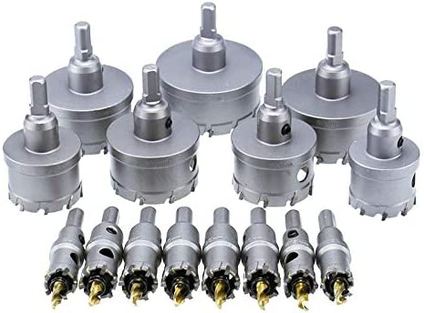 Hole Saw Drill Bit Alloy Carbide Cobalt Steel Cutter Stainless Steel Plate Iron Metal Cutting Kit