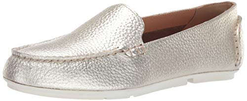 Sperry Womens Bay View Slip On Leather Loafer, Platinum, 8.5 (Bay Sperry Gold)