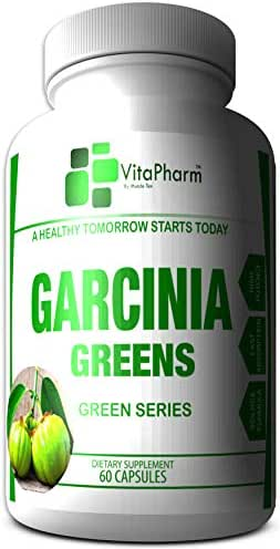 Garcinia Greens 95% HCA by VitaPharm Nutrition | Garcinia Cambogia Weight Loss Capsules | Diet Pills That Work Fast for Women & Men | All Natural High Potency | 60 Gluten Free Slim Capsules