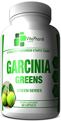 Garcinia Greens 95% HCA   Garcinia Cambogia Weight Loss Capsules. Diet Pills That Work Fast for Women & Men   All Natural High Potency   Plus Under $20 for A Limited Time   VitaPharm Nutrition