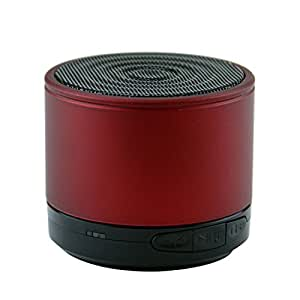 LB1 High Performance New Wireless Bluetooth Mini Speaker for Toshiba Satellite P205-S6347 with Hands-Free Speaker Phone and Micro SD card slot (Red)