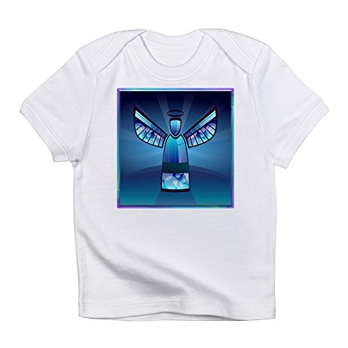 Glory To God Hallelujah - Truly Teague Infant T-Shirt Contemporary Abstract Stained Glass Angel - Cloud White, 6 To 12 Months
