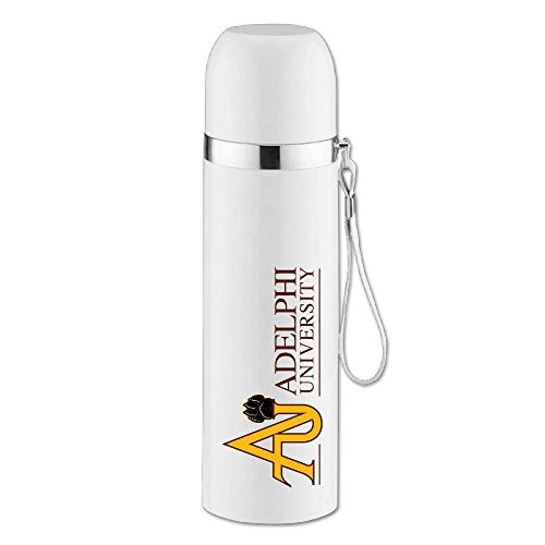 Texhood Adelphi University White Bullet Vacuum Insulation Beverage Bottle One Size