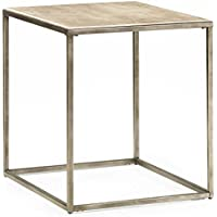 Hammary End Table in Textured Bronze Finish
