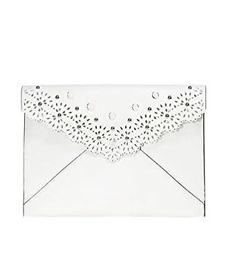 Rebecca Minkoff Women's Leo Studded Clutch Bag White
