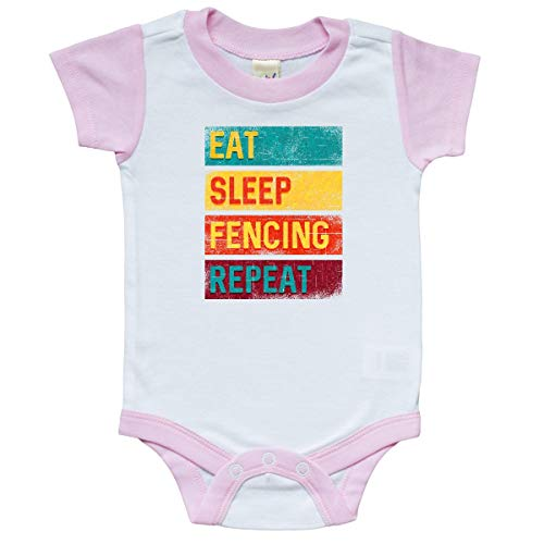 inktastic - Fencer Eat Sleep Infant Creeper 12 Months White and Pink 339aa