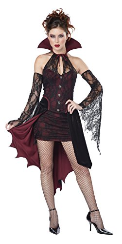 California Costumes Women's Vampire Vixen Costume, Burgundy/Black, Large -