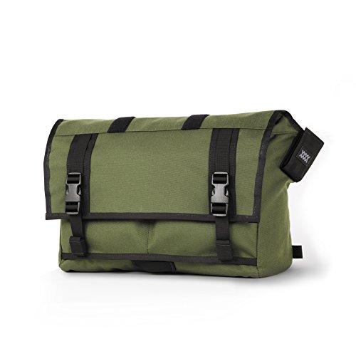 Mission Workshop Rummy 27L (1,650 cu.in.) Waterproof Rolltop Messenger Bag, Olive