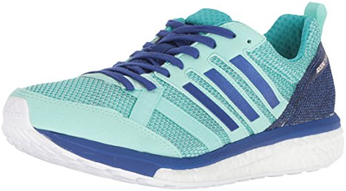 adidas Women's Adizero Tempo 9 Running Shoe, Clear Mint/Mystery Ink/hi-res Aqua, 9 M US