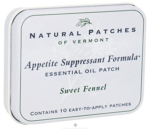 Naturopatch of Vermont Appetite Suppressant Essential Oil Body Patches, Sweet