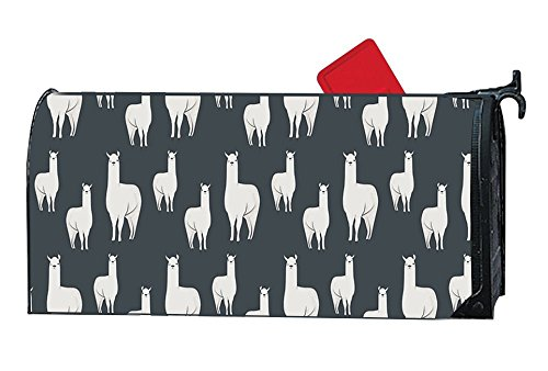 Family Mailbox (JuLeFan Personalized Mailbox Cover Magnetic with Llama Family Fits Standard-Sized Mailboxes)