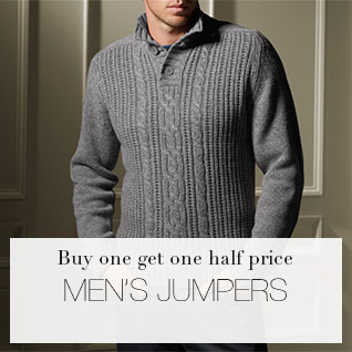 Buy one get one half price on mens Jumpers