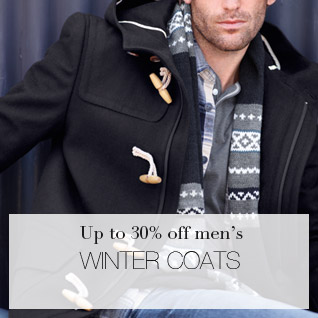 Up to 30% off men's Winter Coats