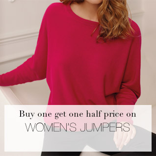 Buy One Get One Half Price on Women's Jumpers