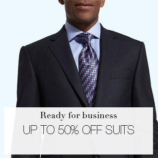 Ready for business - up to 50% off mens suits