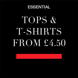 ESSENTIAL tops and T-shirts from £4.50