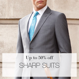 up to 50% off sharp suits