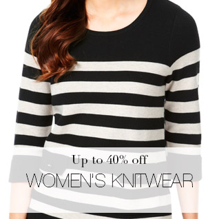 Up to 40% off Women's knitwear