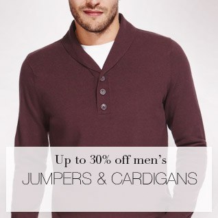 Up to 30% off men's Jumpers & Cardigans