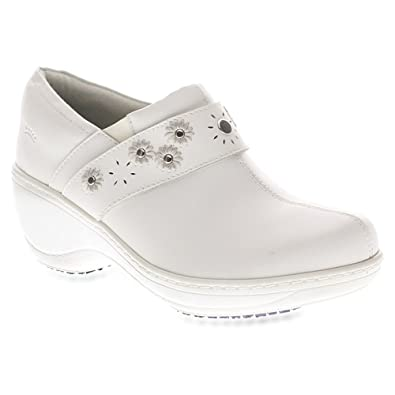 Spring Step Womens White Clogs Florenca Mules
