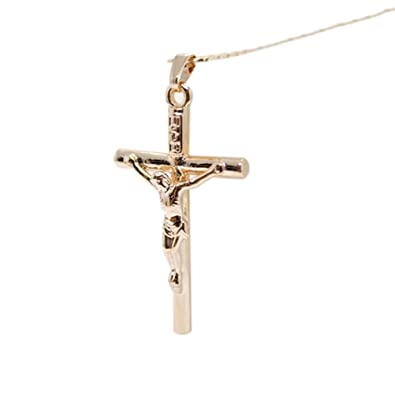 Infinite U Unique Jesus Crucifix Cross 925 Sterling Silver Mens Womens Couple Pendant Matching Partner Pendant, Silver