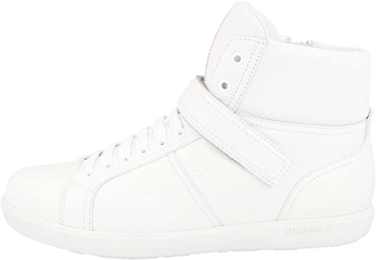 3T6349 White Leather High Top Trainers