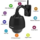 Sumpple Wireless WiFi 4X Optical Zoom PTZ Outdoor 960P Security