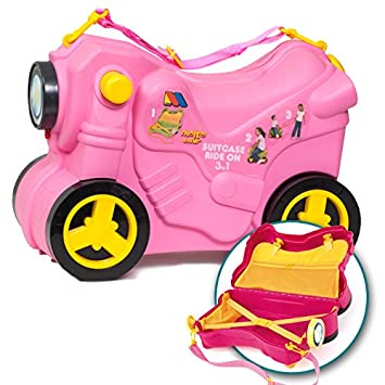 Molto Ride On Suitcase Pull Along Kids Smiler Suitcase Wheeled ...