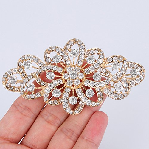 MultiWare Brooch Pin BR296 Vintage Style Bridal Wedding Bouquet Shiny Flower