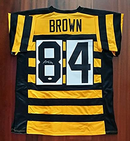 Antonio Brown Autographed Signed Bumblebee Jersey Pittsburgh