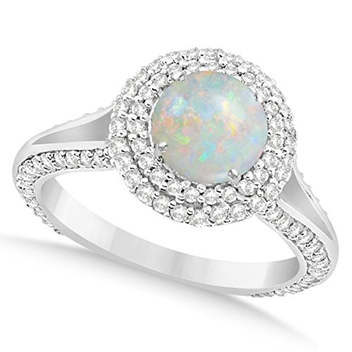 Angara Bypass Opal Ring in Yellow Gold - October Birthstone Ring bqsIrvc