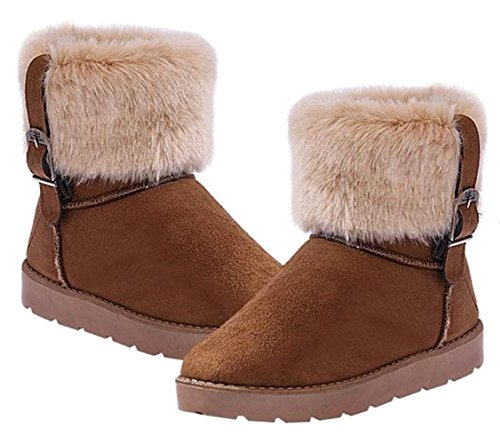 Femme Boots Neige Suède Ruban Low Bottes Uggs Camel Chaussures Hiver pwU01x7K8q
