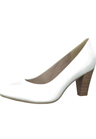 Tamaris Plateau Pumps mit Touch IT Gel Decksohle Weiss 1